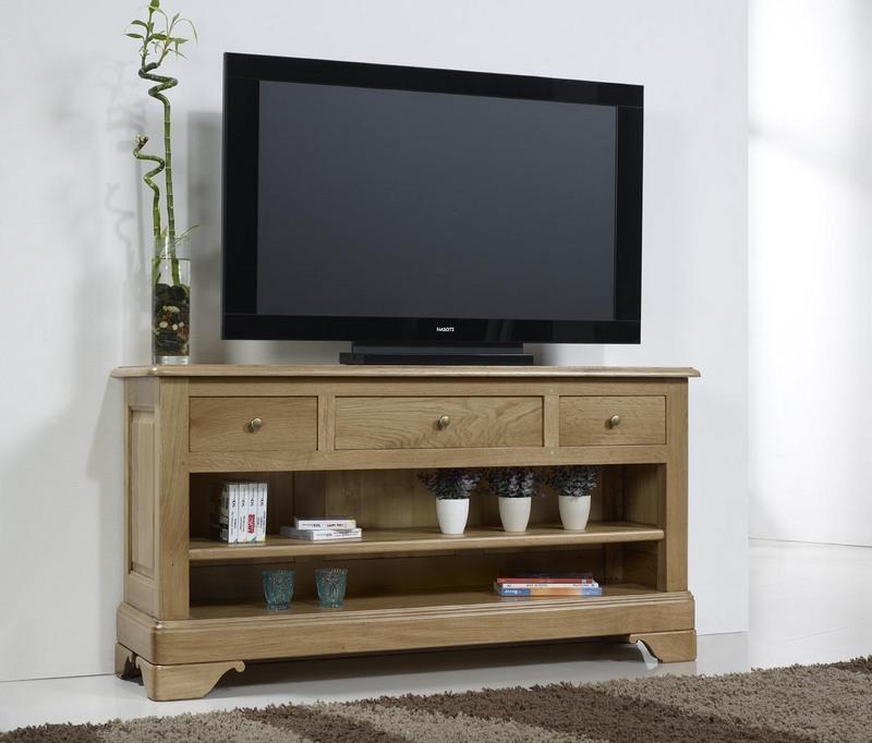 Meuble tv 16 9eme en ch ne massif de style louis philippe meuble en ch ne massif - Meuble tv style louis philippe ...