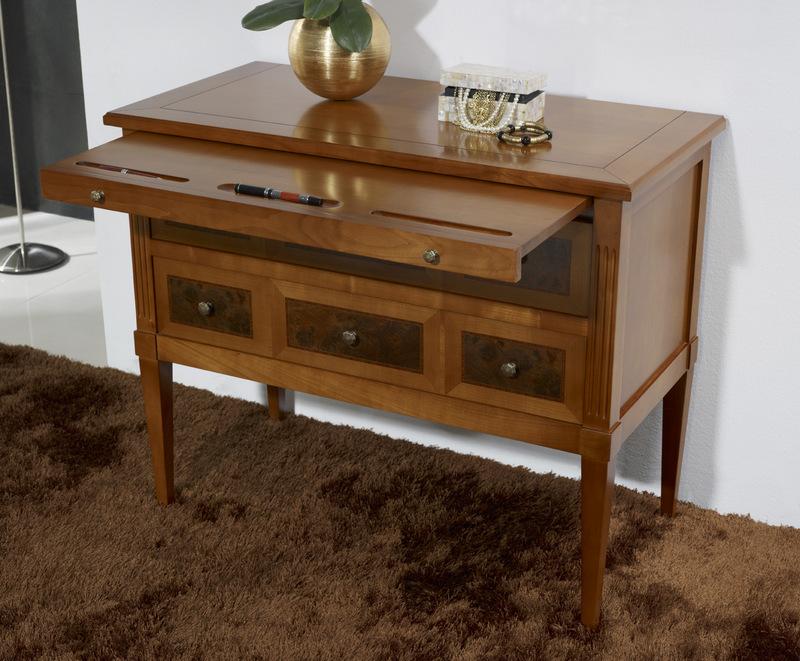 tr s belle commode juliette 2 tiroirs en merisier massif de style directoire meuble en. Black Bedroom Furniture Sets. Home Design Ideas