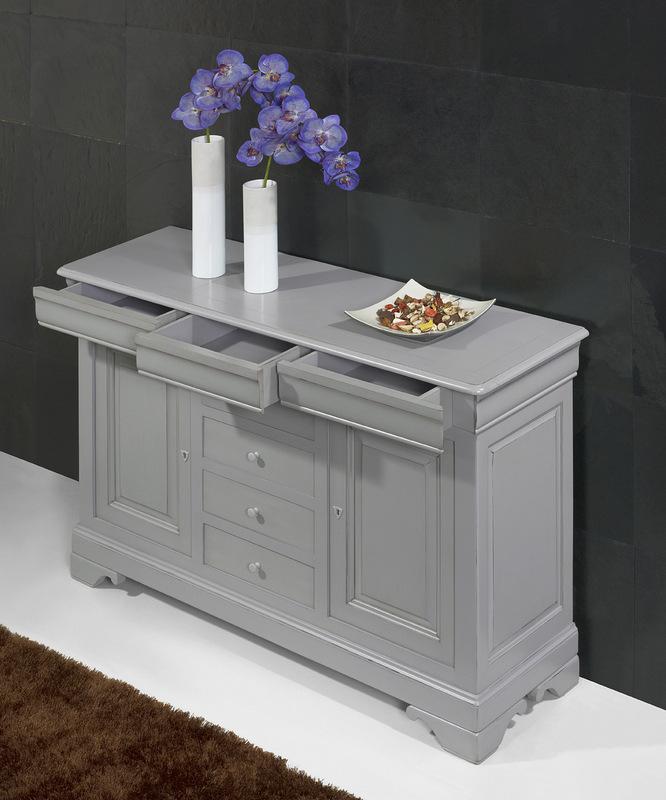 petit buffet 2 portes 7 tiroirs en merisier massif de. Black Bedroom Furniture Sets. Home Design Ideas