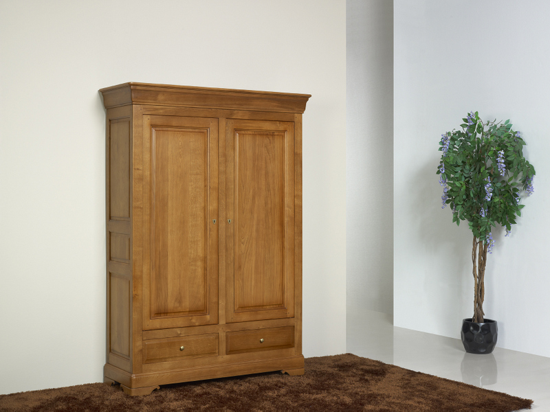 petite armoire 2 portes eric en ch ne massif de style. Black Bedroom Furniture Sets. Home Design Ideas