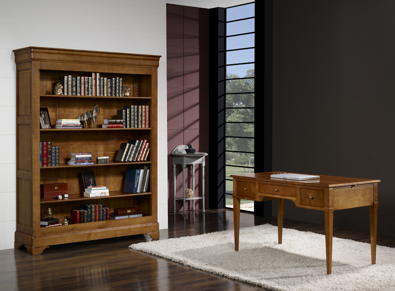 biblioth que sarah en ch ne massif de style louis philippe 4 tag res meuble en ch ne massif. Black Bedroom Furniture Sets. Home Design Ideas