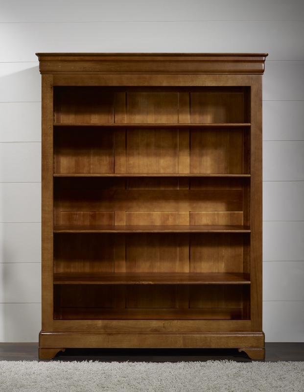 biblioth que sarah en ch ne massif de style louis philippe 4 tag res meuble en ch ne massif. Black Bedroom Furniture Sets. Home Design Ideas