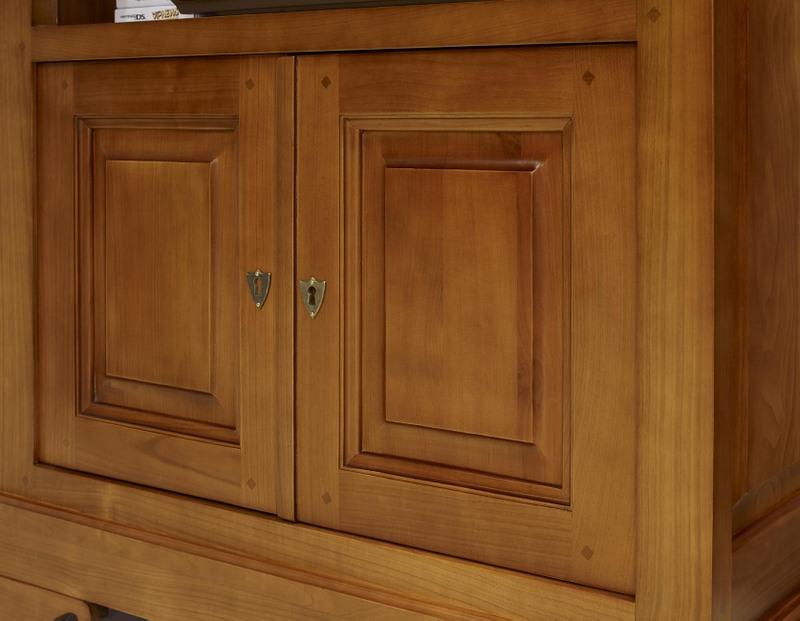 Meuble tv lise en merisier massif de style louis philippe meuble en merisier massif - Meuble merisier style louis philippe ...