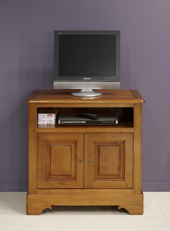Meuble tv bois massif merisier ~ Solutions pour la décoration intérieure de votre maison # Meubles Bois Massif Merisier