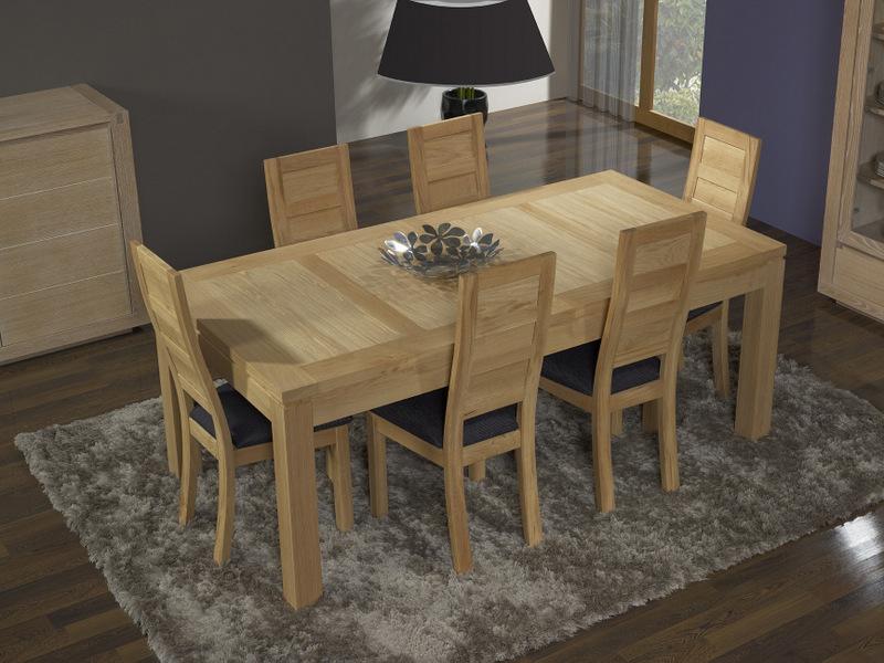 Table de repas rectangulaire 200x100 alexandre en ch ne for Table en chene rectangulaire