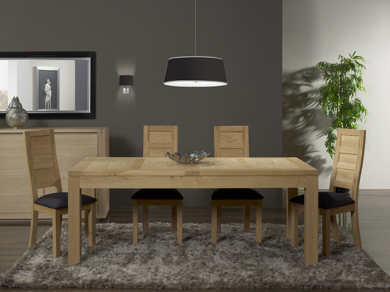 table de repas rectangulaire 200x100 alexandre en ch ne. Black Bedroom Furniture Sets. Home Design Ideas