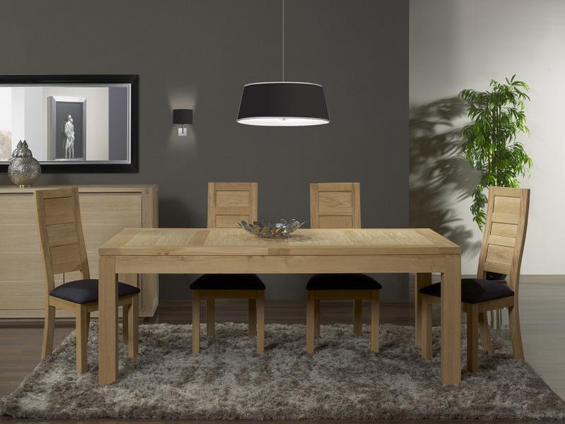 Table de repas rectangulaire 200X100 Alexandre en Ch u00eane Ligne Contemporaine , meuble en Ch u00eane massif # Magasin Meuble Bois Massif