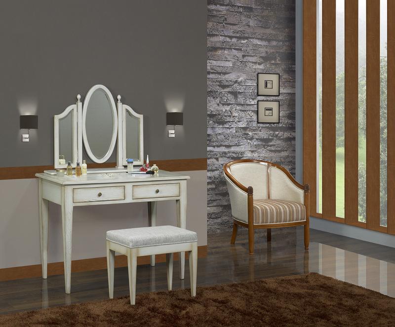 table de toilette ou coiffeuse coralie en ch ne de style louis philippe meuble en ch ne massif. Black Bedroom Furniture Sets. Home Design Ideas