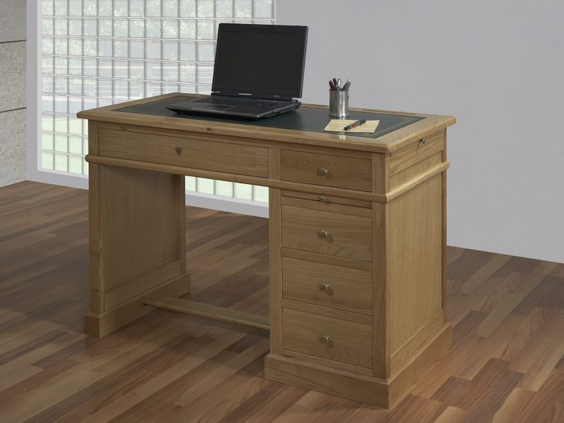 bureau 5 tiroirs en ch ne de style louis philippe meuble en ch ne massif. Black Bedroom Furniture Sets. Home Design Ideas