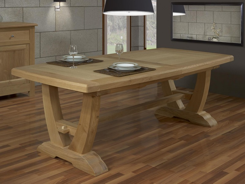 Table rectangulaire monast re gautier 220x110 2 allonges de 45 cm en ch ne - Table en chene massif prix ...