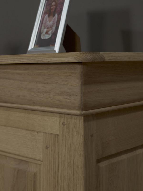 buffet 2 portes 2 tiroirs en ch ne massif de style louis philippe 130 de large finition ch ne. Black Bedroom Furniture Sets. Home Design Ideas