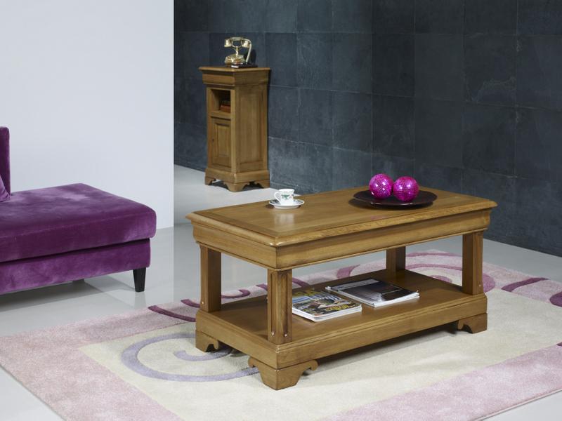 Table basse en ch ne de style louis philippe 1 tiroir de - Cote table meubles ...