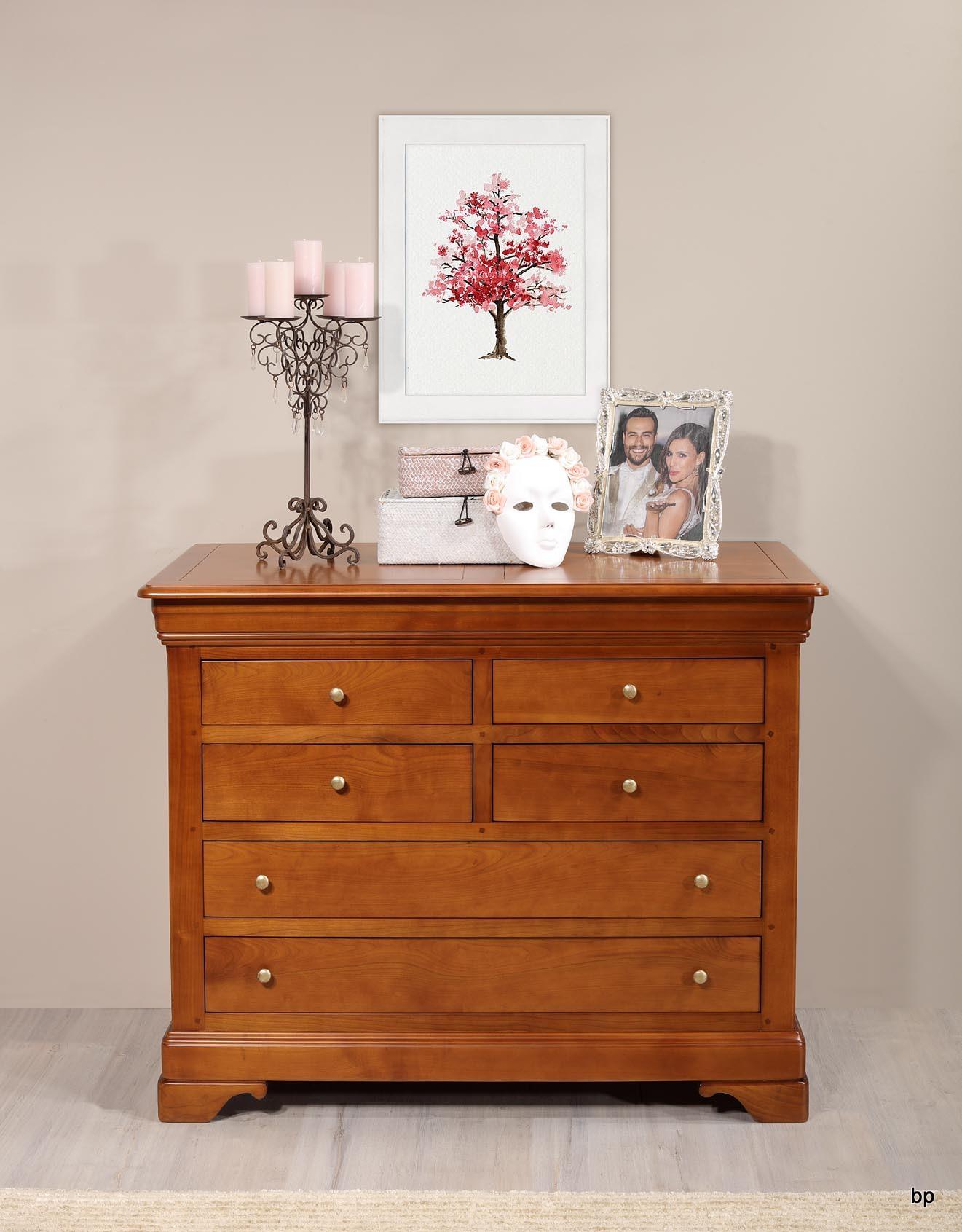 Commode 6 tiroirs en merisier massif de style louis philippe bonne affaire 1 disponible meuble - Commode merisier louis philippe ...