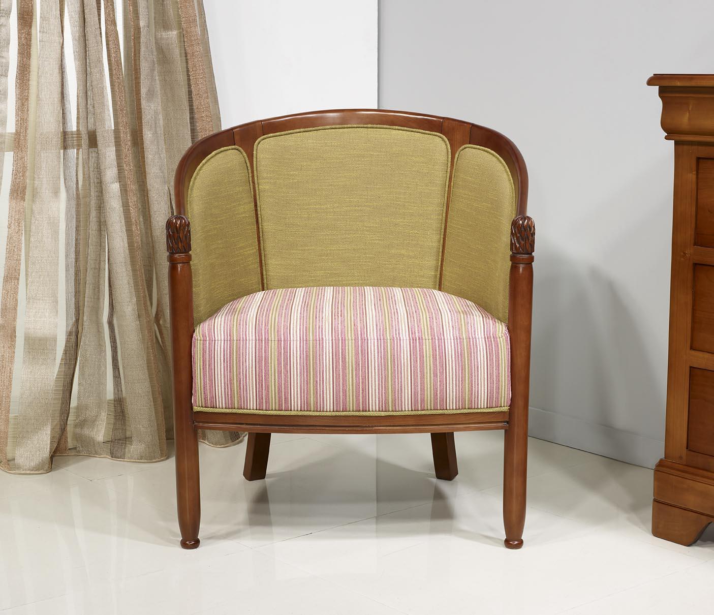 fauteuil cabriolet en h tre massif de style louis philippe meuble en merisier massif. Black Bedroom Furniture Sets. Home Design Ideas
