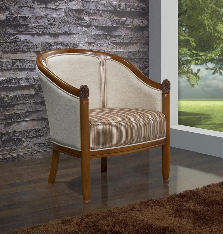 Fauteuil Cabriolet en hêtre massif de style Louis Philippe , meuble ...