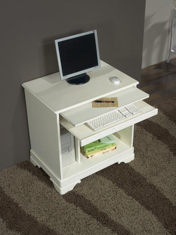 Bureau informatique en merisier de style louis philippe for Console informatique bois