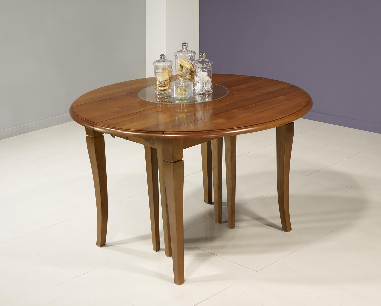 table ronde volets diametre 110 en merisier massif de style louis philippe 5 allonges de 40 cm. Black Bedroom Furniture Sets. Home Design Ideas
