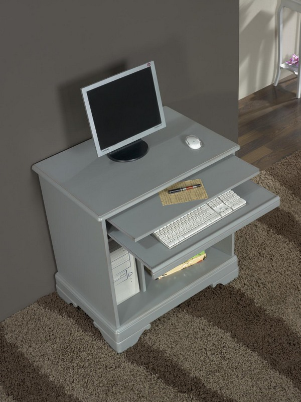 Bureau informatique en merisier de style louis philippe for Meuble bureau qualite