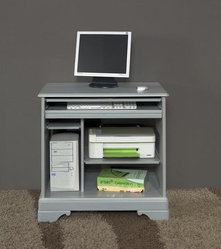 Bureau informatique en merisier de style louis philippe for Meuble informatique but