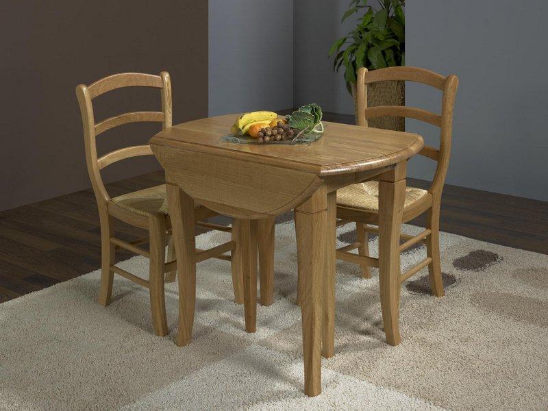 table ronde volets en ch ne de style louis philippe. Black Bedroom Furniture Sets. Home Design Ideas