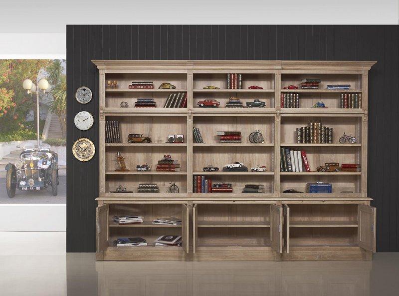 biblioth que 2 corps 6 portes alix en ch ne massif de. Black Bedroom Furniture Sets. Home Design Ideas