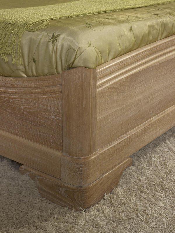 lit 140 190 guillaume en ch ne massif de style louis philippe finition ch ne bross meuble en. Black Bedroom Furniture Sets. Home Design Ideas