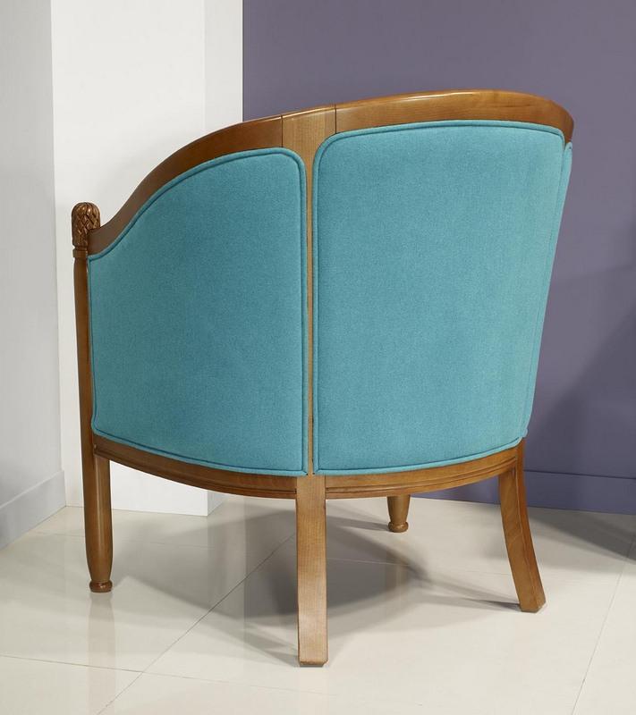 fauteuil cabriolet caroline en h tre massif de style louis philippe meuble en merisier massif. Black Bedroom Furniture Sets. Home Design Ideas