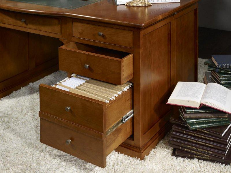 bureau ministre sp cial dossiers suspendus en merisier massif de style louis philippe meuble. Black Bedroom Furniture Sets. Home Design Ideas