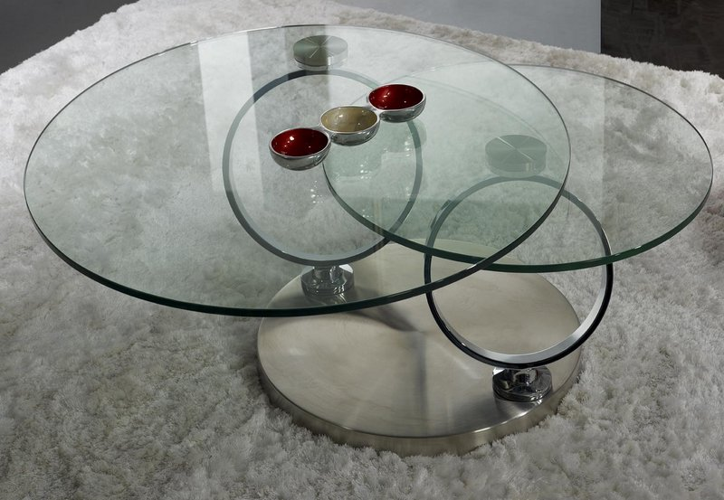 table basse ronde en verre socle inox meuble en choisir le bois massif. Black Bedroom Furniture Sets. Home Design Ideas