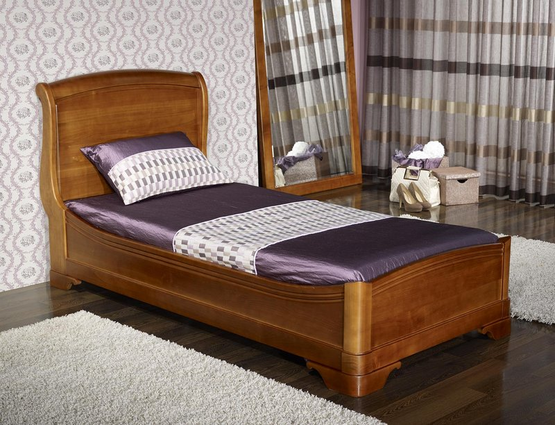 lit de style louis philippe odile en merisier meuble en merisier massif. Black Bedroom Furniture Sets. Home Design Ideas