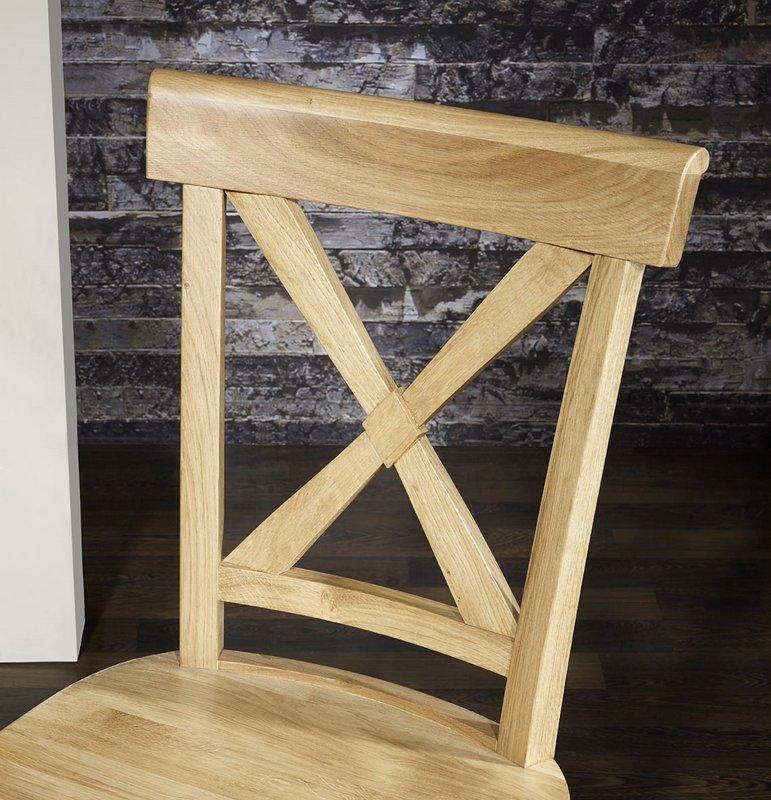 Chaise eliot en ch ne massif assise chene meuble en for Chaise bercante en bois massif