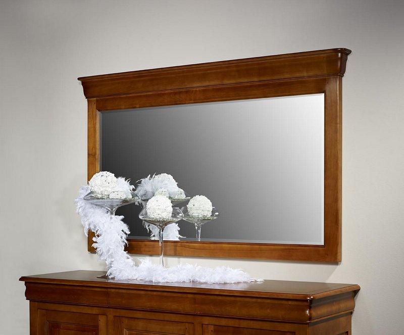 Miroir pour buffet 3 portes en merisier massif de style louis philippe meuble en merisier massif - Meuble style louis philippe ...