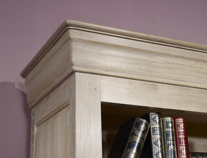 biblioth que thiago en ch ne massif de style louis. Black Bedroom Furniture Sets. Home Design Ideas