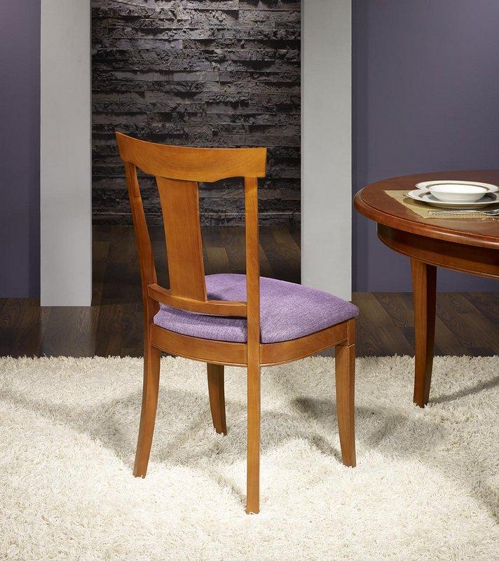 chaise syriel en merisier massif de style louis philippe assise mauve meuble en merisier massif. Black Bedroom Furniture Sets. Home Design Ideas