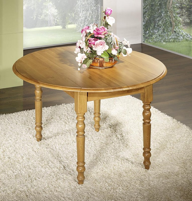Table ronde chene massif great tapis rond sous de table for Table ronde chene massif avec allonges
