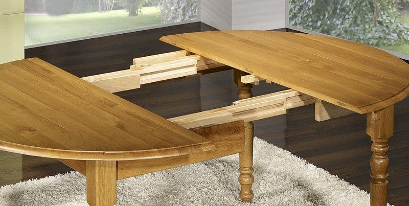 Table Ronde Volets En Ch Ne Massif De Style Louis