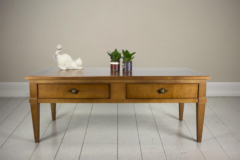 Table basse en merisier de style directoire meuble en Meubles de style directoire