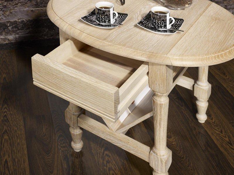 Table basse ou bout de canap marc eric en ch ne de style for Bout de canape chene