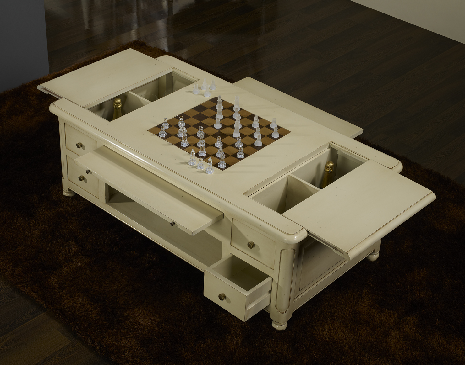 table basse jeu d 39 chec en merisier de style louis. Black Bedroom Furniture Sets. Home Design Ideas