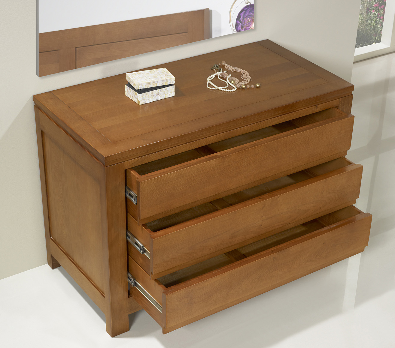 Commode chene massif for Meuble bois commode