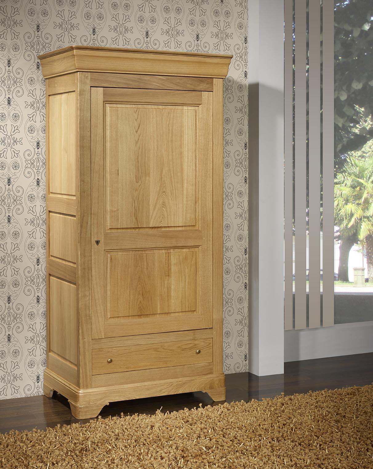 bonneti re 1 porte 1 tiroir s bastien en ch ne massif de style louis philippe finition. Black Bedroom Furniture Sets. Home Design Ideas