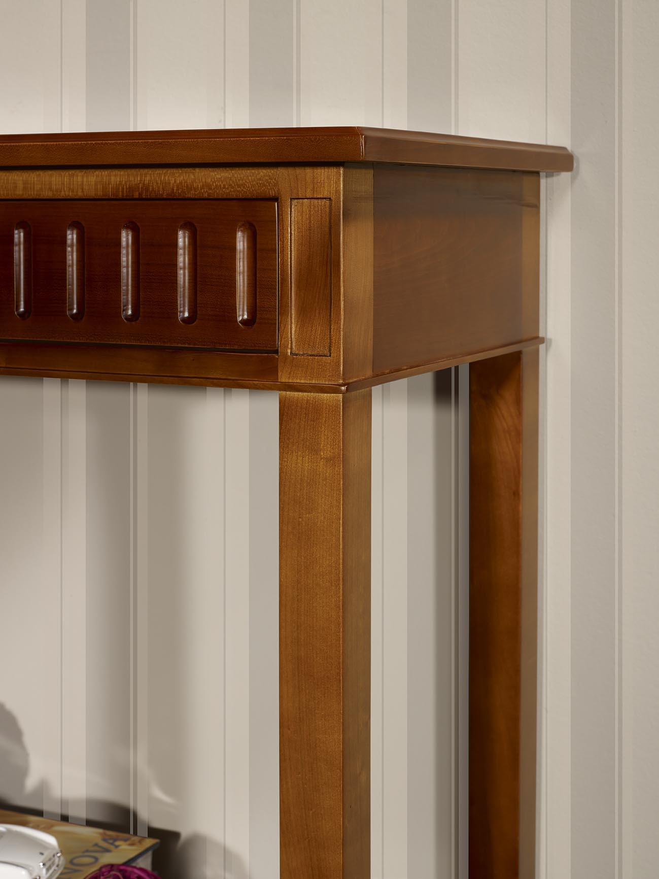 console m laine en merisier de style directoire meuble en merisier massif. Black Bedroom Furniture Sets. Home Design Ideas
