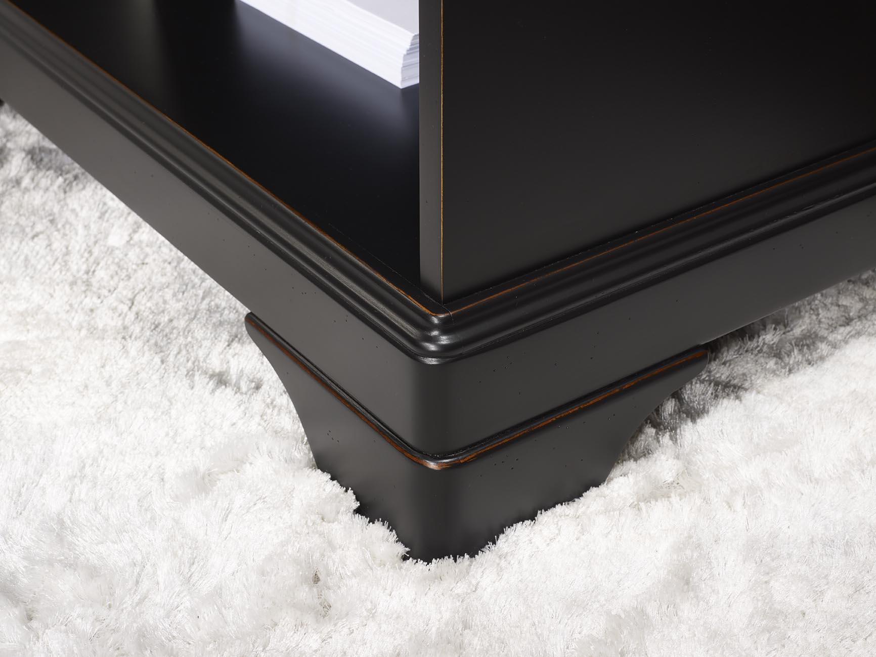 Meuble bureau noir meubles laqus noir et gris with meuble for Meuble bureau nice