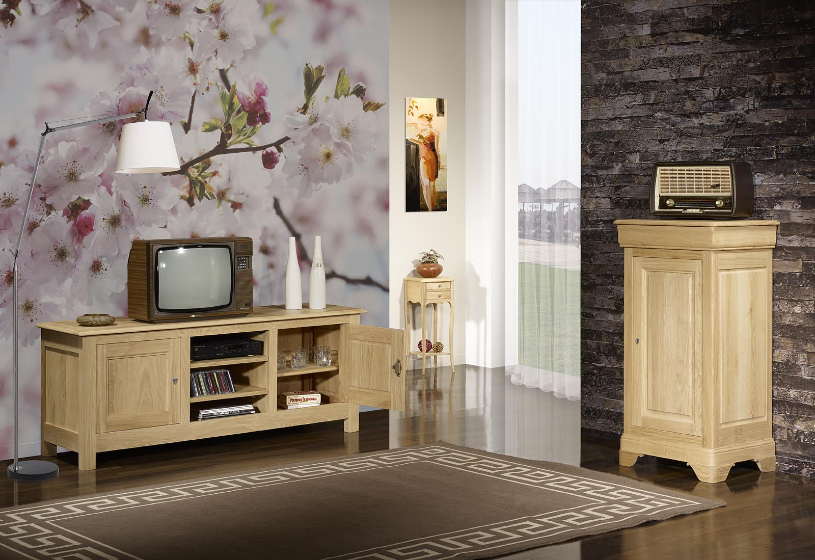 Amazing Moderniser Meuble Chene Meuble De Tv En Bois Massif U Artzein With  Moderniser Un Meuble En Chne