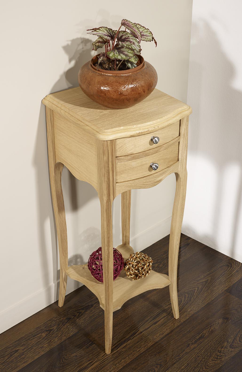 table de nuit ou sellette alban en ch ne massif finition ch ne bross naturel meuble en ch ne. Black Bedroom Furniture Sets. Home Design Ideas