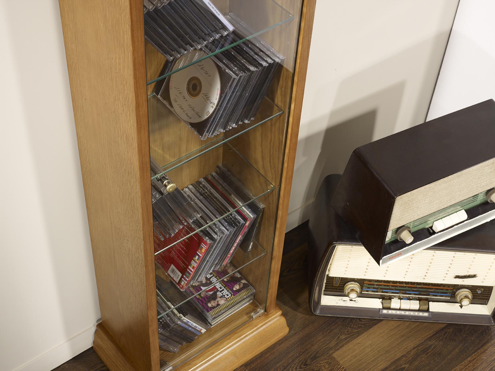 Chene Bois Massif : >> Meubles en Ch?ne massif >> Meuble RANGE CD/DVD en Ch?ne massif