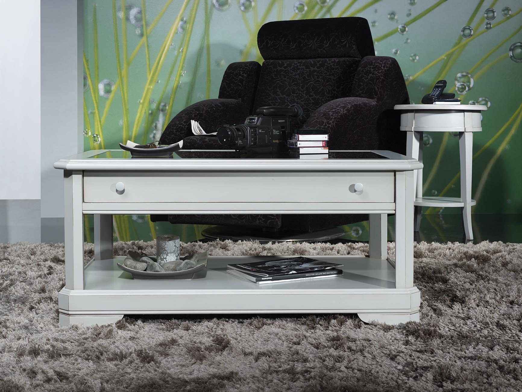 table basse vitrine exposition. Black Bedroom Furniture Sets. Home Design Ideas