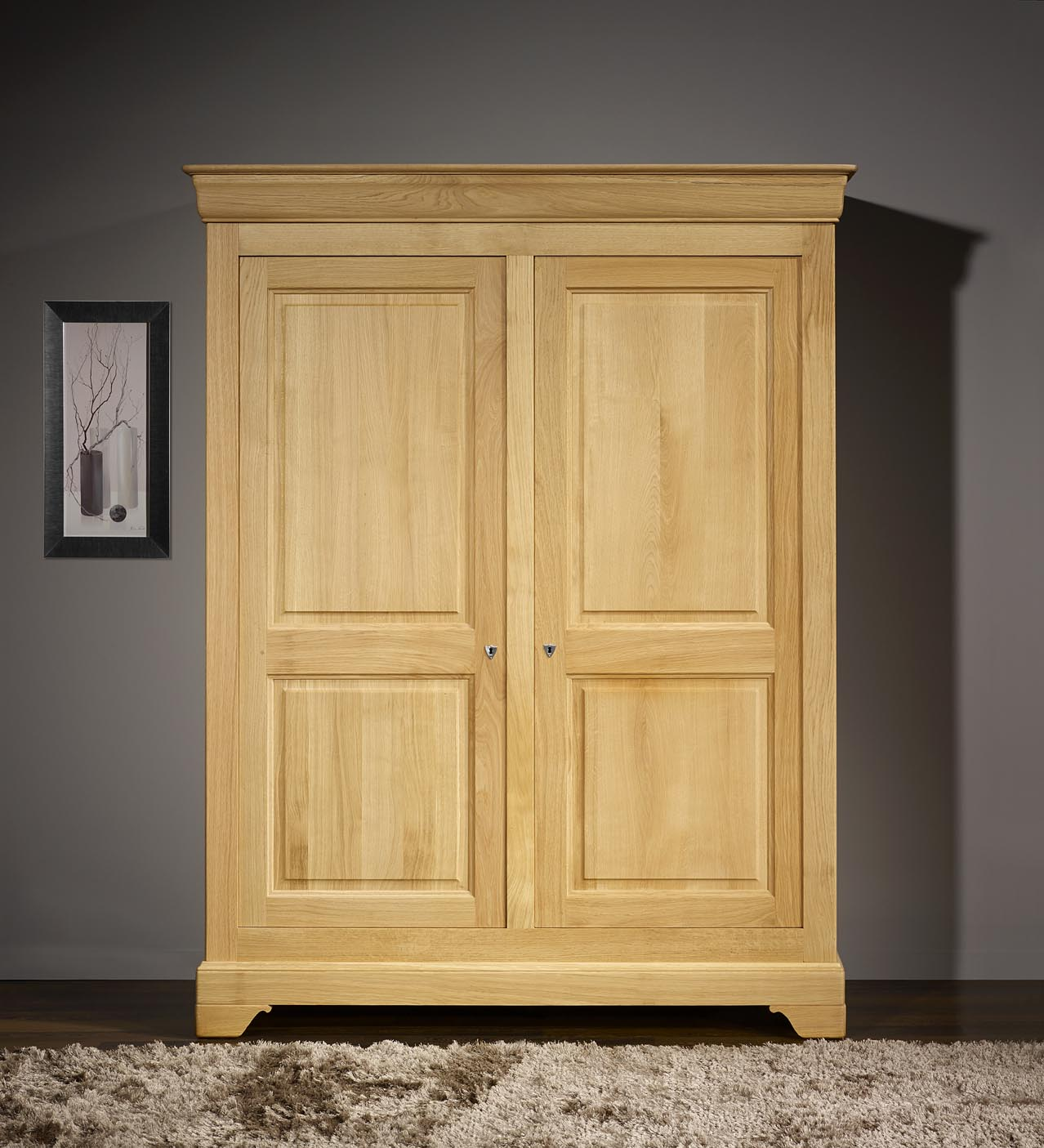 armoire chene. Black Bedroom Furniture Sets. Home Design Ideas