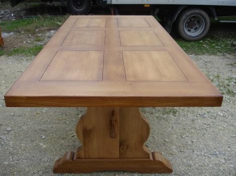 Table monast re 250x100 en ch ne massif meuble en ch ne - Table monastere moderne ...