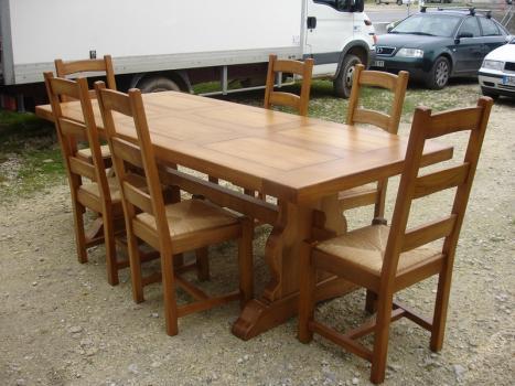 table monastère 250x100 en chêne massif , meuble en chêne massif